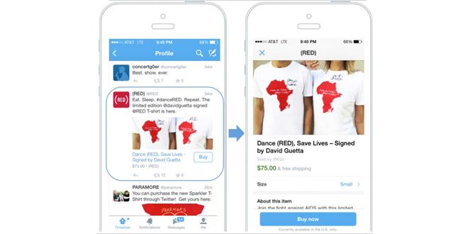 Twitter testa il Buy Button solo negli Usa, per ora