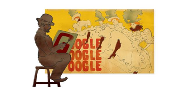 Il doodle di Google è per i 150 anni della nascita di Henri de Toulouse-Lautrec