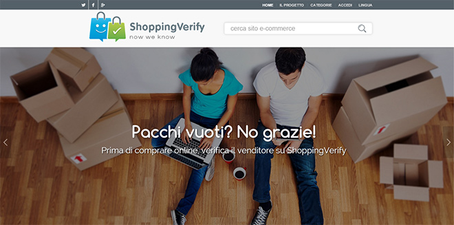 E' online ShoppingVerify, dove recensire i siti e-commerce