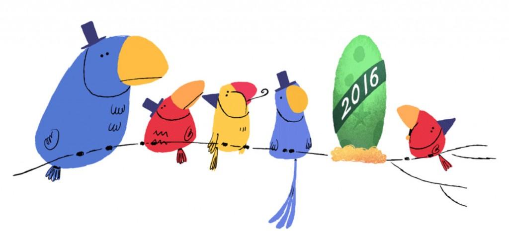 google doodle felice anno nuovo 2016