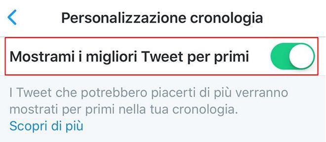 Twitter timeline migliori tweet prima iPhone