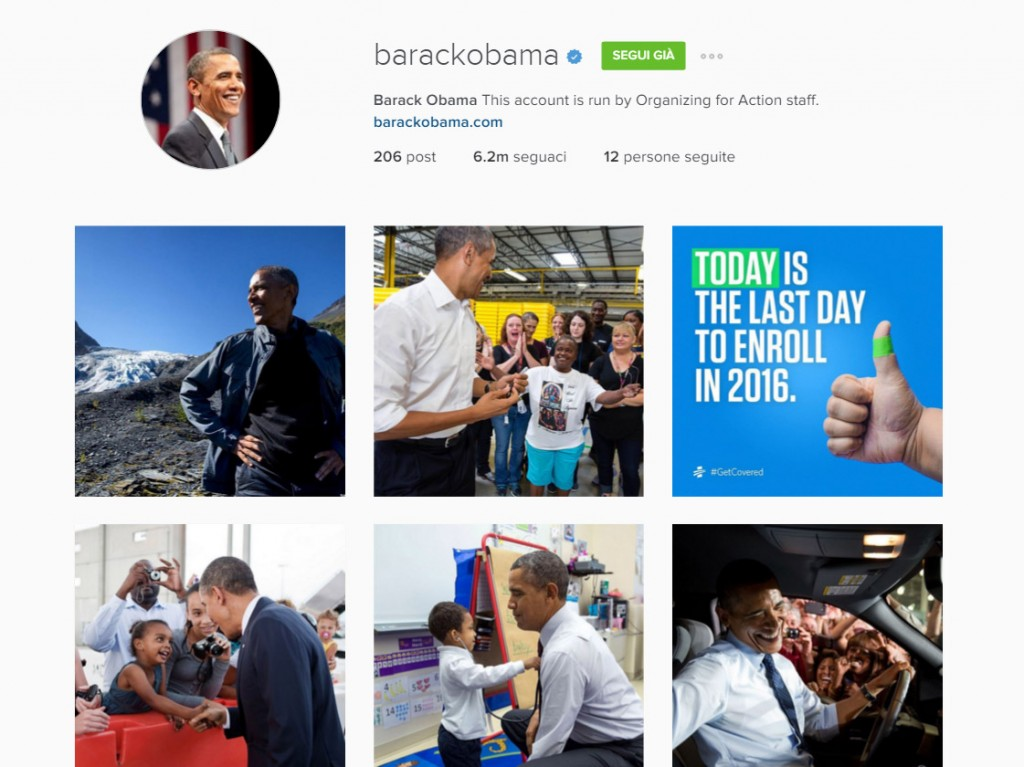 account Obama Instagram