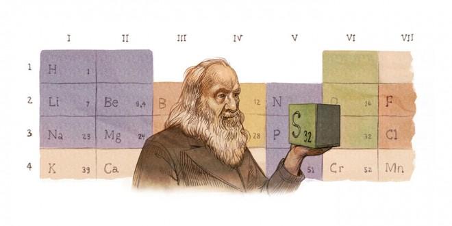 Il doodle di Google è per Mendeleev e la Tavola periodica