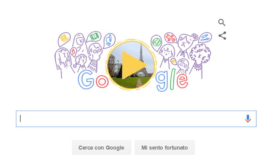 Google doodle giornata donne 2016