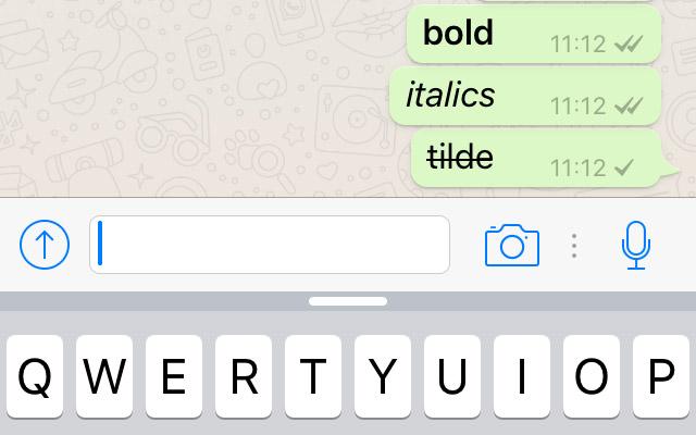 whatsapp formattare corsivo testo