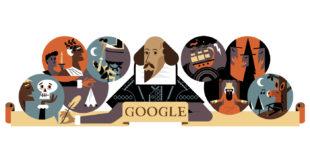 google doodle william shakspeare