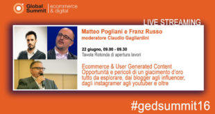 Globa Summit E-commerce & Digital #gedsummit2016 franzrusso.it 2016