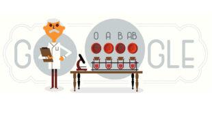 google doodle karl landsteiner