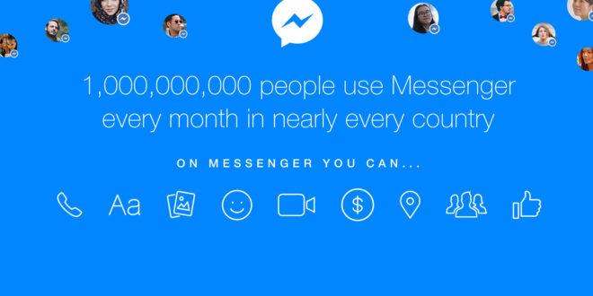 messenger 1 miliardo utenti