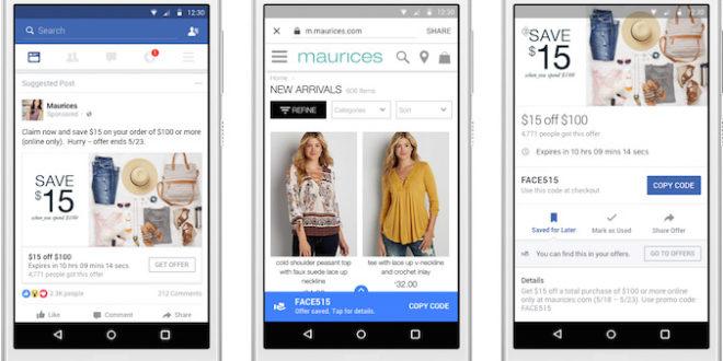 Facebook rilancia e migliora la creazione di Offerte per mobile