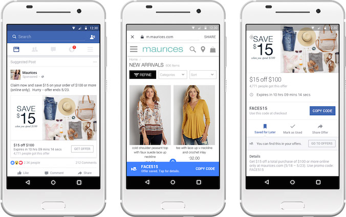 Facebook rilancia e migliora la creazione di offerte per for Offerte mobile