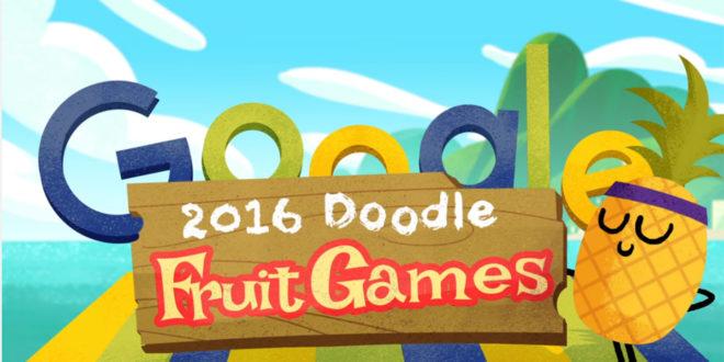 Google celebra Rio 2016 con i Doodle Fruit Games