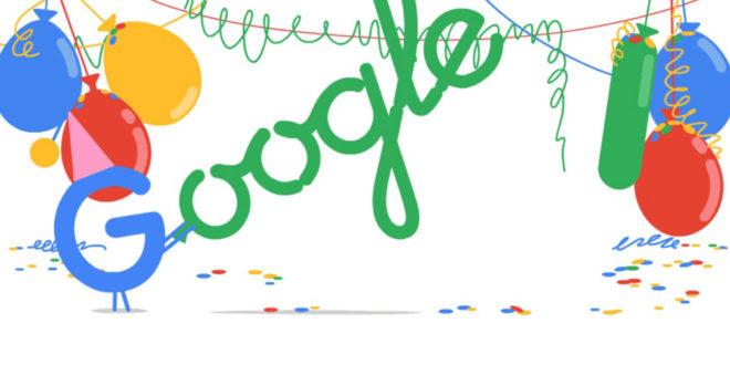 Tanti Auguri a Google che compie oggi 18 anni