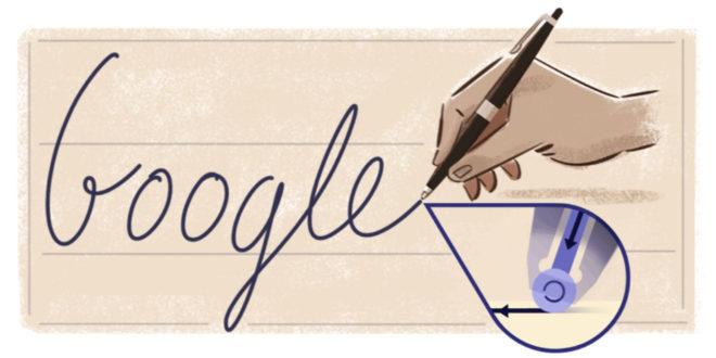 Google dedica il doodle a László Biro, inventore della penna a sfera