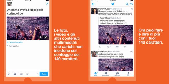 Twitter conferma, da oggi i tweet sono piĂš lunghi di 140 caratteri