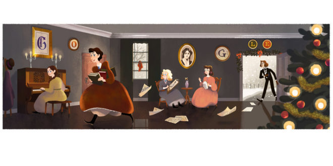 Il Doodle di Google è per Louisa May Alcott, autrice di Piccole Donne
