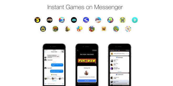 Facebook accentratore di esperienze: ecco gli Instant Games su Messenger