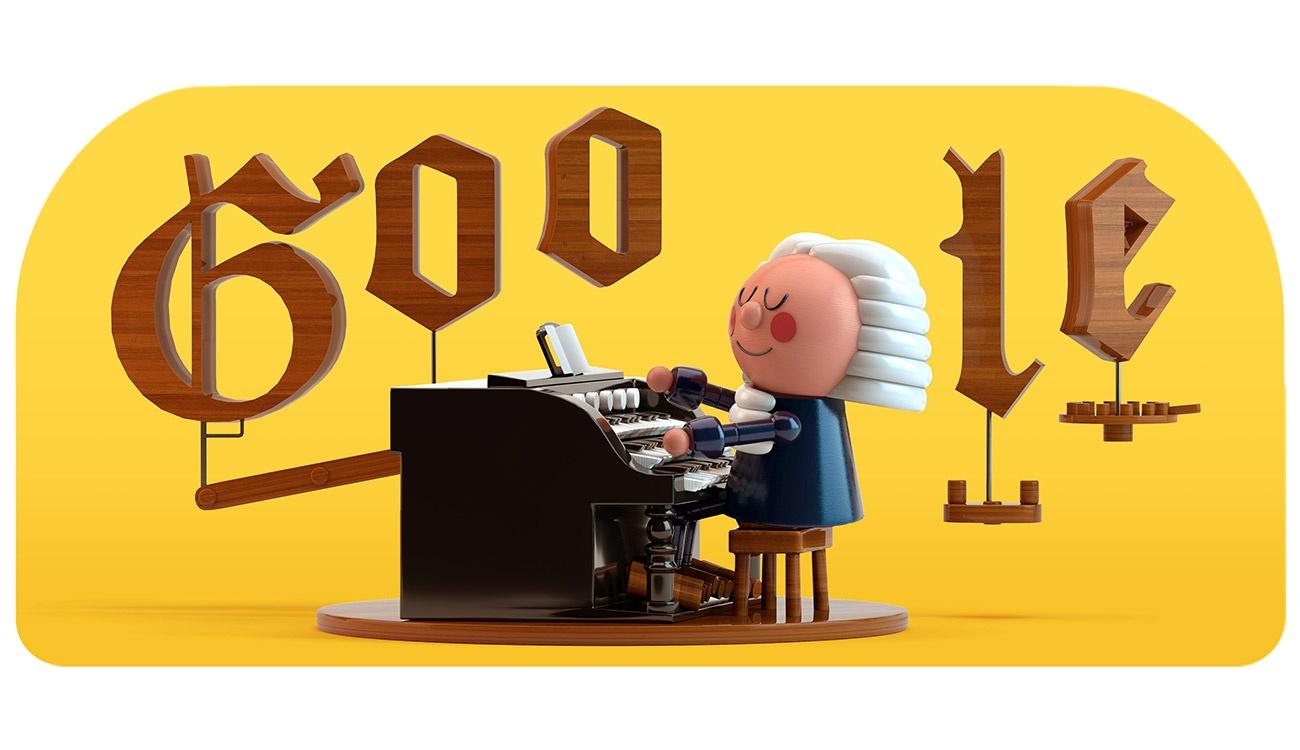 Johann Sebastian Bach: doodle per festeggiamenti con lezioni di musica