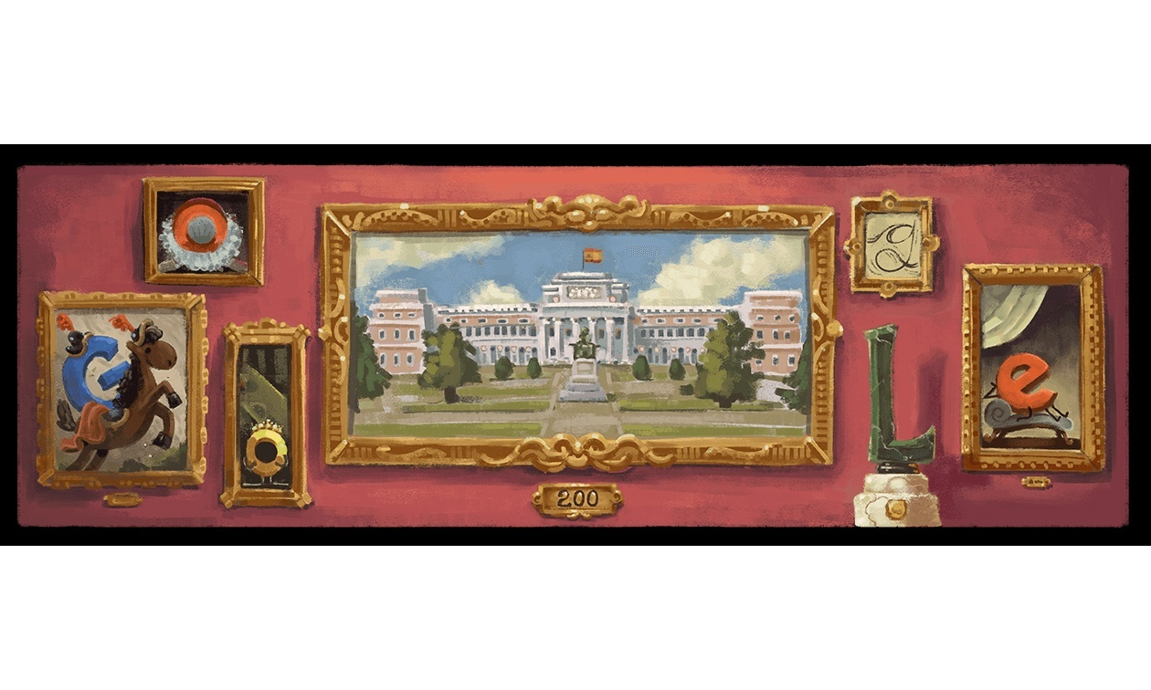 Il doodle di Google è per i 200 anni del Museo del Prado