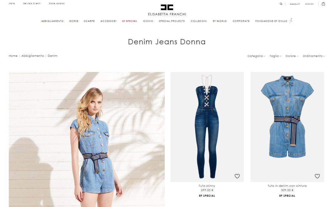 betty blue Elisabetta franchi e-commerce