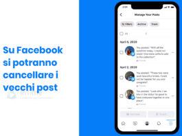 facebook manage activity cancellare vecchi post