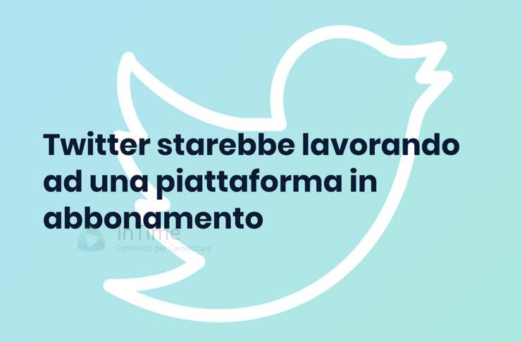 twitter piattaforma abbonamento