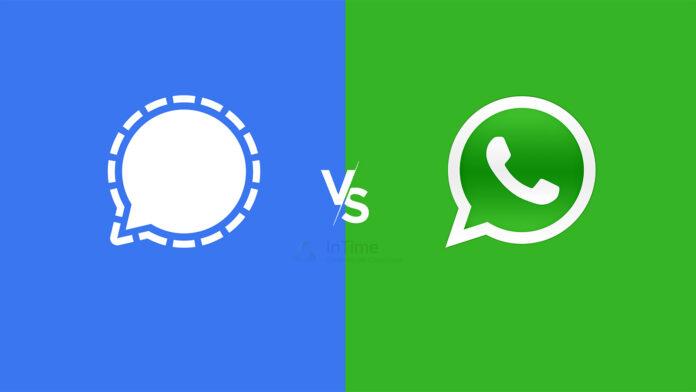 signal vs whatsapp intime blog 2021