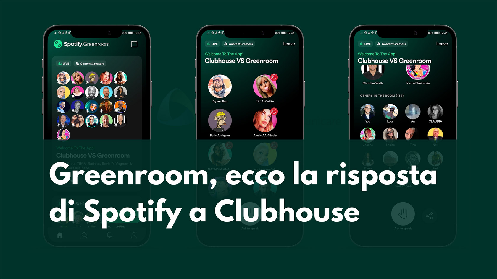 Greenroom risposta Spotify Clubhouse franzrusso.it